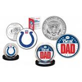 Best Dad - INDIANAPOLIS COLTS 2-Coin Set U.S. Quarter & JFK Half Dollar - NFL Officially Licensed