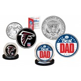Best Dad - ATANTA FALCONS 2-Coin Set U.S. Quarter & JFK Half Dollar - NFL Officially Licensed