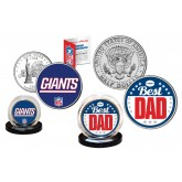 Best Dad - NEW YORK GIANTS 2-Coin Set U.S. Quarter & JFK Half Dollar - NFL Officially Licensed