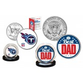 Best Dad - TENNESSEE TITANS 2-Coin Set U.S. Quarter & JFK Half Dollar - NFL Officially Licensed