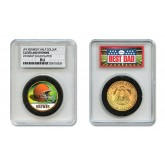 CLEVELAND BROWNS #1 DAD Licensed NFL 24KT Gold Clad JFK Half Dollar Coin in Special *Best Dad* Sealed Graded Holder