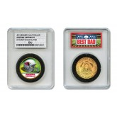 ARIZONA CARDINALS #1 DAD Licensed NFL 24KT Gold Clad JFK Half Dollar Coin in Special *Best Dad* Sealed Graded Holder