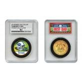 TENNESSEE TITANS #1 DAD Licensed NFL 24KT Gold Clad JFK Half Dollar Coin in Special *Best Dad* Sealed Graded Holder