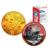 TAMPA BAY BUCS NFL 24K Gold Plated IKE Dollar US Colorized Coin - Officially Licensed