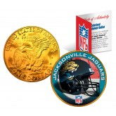 JACKSONVILLE JAGUARS NFL 24K Gold Plated IKE Dollar US Colorized Coin - Officially Licensed