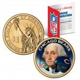 CHICAGO BEARS NFL Presidential $1 Dollar US Colorized Coin - Officially Licensed