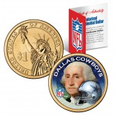 DALLAS COWBOYS NFL Presidential $1 Dollar US Colorized Coin - Officially Licensed