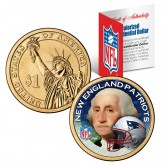 NEW ENGLAND PATRIOTS NFL Presidential $1 Dollar US Colorized Coin - Officially Licensed