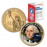 BALTIMORE RAVENS NFL Presidential $1 Dollar US Colorized Coin - Officially Licensed