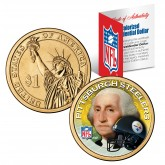 PITTSBURGH STEELERS NFL Presidential $1 Dollar US Colorized Coin - Officially Licensed