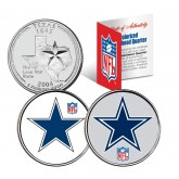 DALLAS COWBOYS - Retro & Team Logo - Texas Quarters 2-Coin U.S. Set - NFL Officially Licensed