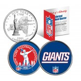 NEW YORK GIANTS - Retro & Team Logo - New York Quarters 2-Coin U.S. Set - NFL Officially Licensed