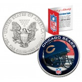 CHICAGO BEARS 1 Oz American Silver Eagle $1 US Coin Colorized - NFL LICENSED