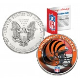 CINCINNATI BENGALS 1 Oz American Silver Eagle $1 US Coin Colorized - NFL LICENSED