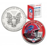BUFFALO BILLS 1 Oz American Silver Eagle $1 US Coin Colorized - NFL LICENSED