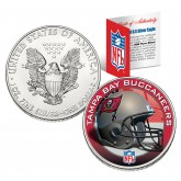 TAMPA BAY BUCS 1 Oz American Silver Eagle $1 US Coin Colorized - NFL LICENSED