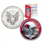 ARIZONA CARDINALS 1 Oz American Silver Eagle $1 US Coin Colorized - NFL LICENSED
