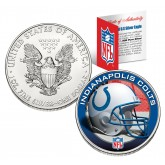 INDIANAPOLIS COLTS 1 Oz American Silver Eagle $1 US Coin Colorized - NFL LICENSED