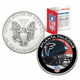 ATLANTA FALCONS 1 Oz American Silver Eagle $1 US Coin Colorized - NFL LICENSED