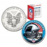 CAROLINA PANTHERS 1 Oz American Silver Eagle $1 US Coin Colorized - NFL LICENSED