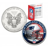 NEW ENGLAND PATRIOTS 1 Oz American Silver Eagle $1 US Coin Colorized - NFL LICENSED