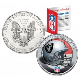 OAKLAND RAIDERS 1 Oz American Silver Eagle $1 US Coin Colorized - NFL LICENSED