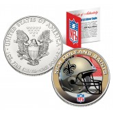 NEW ORLEANS SAINTS 1 Oz American Silver Eagle $1 US Coin Colorized - NFL LICENSED