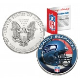 SEATTLE SEAHAWKS 1 Oz American Silver Eagle $1 US Coin Colorized - NFL LICENSED
