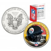 PITTSBURGH STEELERS 1 Oz American Silver Eagle $1 US Coin Colorized - NFL LICENSED