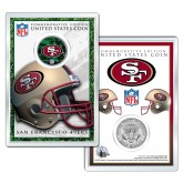 SAN FRANCISCO 49ERS Field NFL Colorized JFK Kennedy Half Dollar U.S. Coin w/4x6 Display