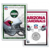 ARIZONA CARDINALS Field NFL Colorized JFK Kennedy Half Dollar U.S. Coin w/4x6 Display