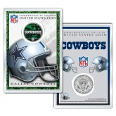 DALLAS COWBOYS Field NFL Colorized JFK Kennedy Half Dollar U.S. Coin w/4x6 Display