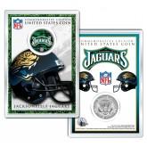 JACKSONVILLE JAGUARS Field NFL Colorized JFK Kennedy Half Dollar U.S. Coin w/4x6 Display