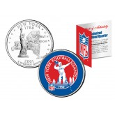 NEW YORK GIANTS - Retro Logo - NY Quarter US Colorized Coin Football NFL - Officially Licensed