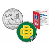 GREEN BAY PACKERS - Retro Logo - Wisconsin Quarter US Colorized Coin Football NFL  - Officially Licensed