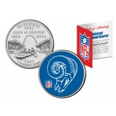 ST LOUIS RAMS - Retro Logo - Missouri Quarter US Colorized Coin Football NFL - Officially Licensed