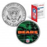 CHICAGO BEARS Field JFK Kennedy Half Dollar US Colorized Coin - NFL Licensed
