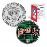 CINCINNATI BENGALS Field JFK Kennedy Half Dollar US Colorized Coin - NFL Licensed