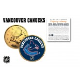 VANCOUVER CANUCKS NHL Hockey 24K Gold Plated Canadian Quarter Colorized Coin - Officially Licensed