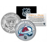COLORADO AVALANCHE NHL Hockey JFK Kennedy Half Dollar U.S. Coin - Officially Licensed