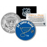 ST. LOUIS BLUES NHL Hockey JFK Kennedy Half Dollar U.S. Coin - Officially Licensed