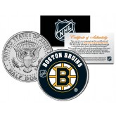 BOSTON BRUINS NHL Hockey JFK Kennedy Half Dollar U.S. Coin - Officially Licensed