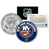 NEW YORK ISLANDERS NHL Hockey JFK Kennedy Half Dollar U.S. Coin - Officially Licensed