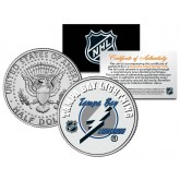 TAMPA BAY LIGHTNING NHL Hockey JFK Kennedy Half Dollar U.S. Coin - Officially Licensed