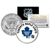 TORONTO MAPLE LEAFS NHL Hockey JFK Kennedy Half Dollar U.S. Coin - Officially Licensed