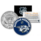 NASHVILLE PREDATORS NHL Hockey JFK Kennedy Half Dollar U.S. Coin - Officially Licensed