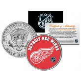 DETROIT RED WINGS NHL Hockey JFK Kennedy Half Dollar U.S. Coin - Officially Licensed