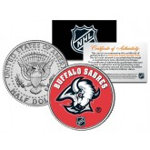 BUFFALO SABRES NHL Hockey JFK Kennedy Half Dollar U.S. Coin - Officially Licensed