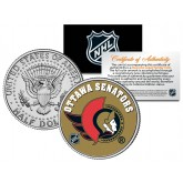 OTTAWA SENATORS NHL Hockey JFK Kennedy Half Dollar U.S. Coin - Officially Licensed