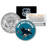 SAN JOSE SHARKS NHL Hockey JFK Kennedy Half Dollar U.S. Coin - Officially Licensed
